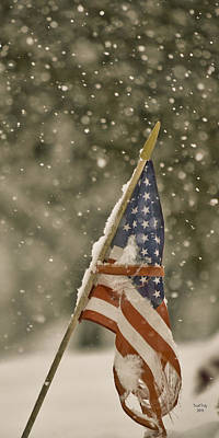 Snowy American Art Print by Trish Tritz