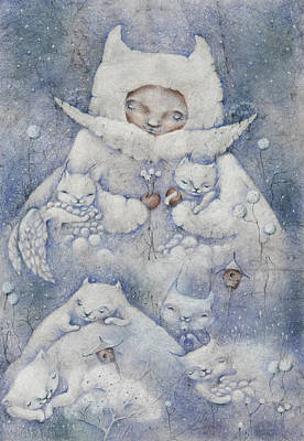 Snowy And Tender Art Print by Anna Petrova