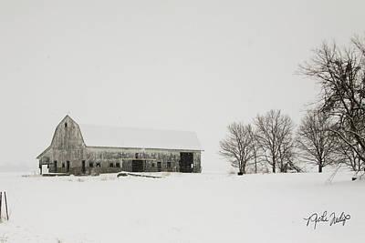 Snowy Barn Original