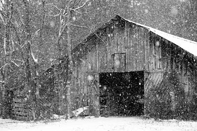 Photograph - Snowy Barn by Robert Camp