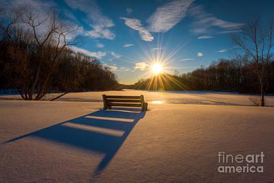 Snowy Bench Original by Michael Ver Sprill