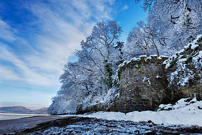 Photograph - Snowy Castle Wall by Beverly Cash