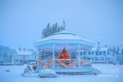 Photograph - Snowy Christmas Bandstand by Susan Cole Kelly