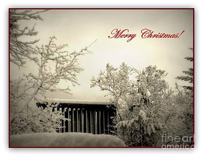 Snowy Christmas Art Print by Leone Lund