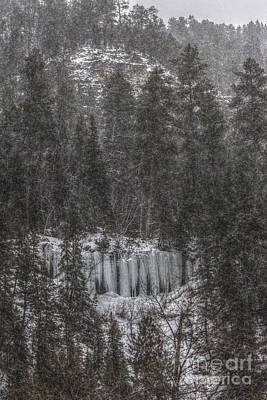 The Snowy Cliffs Of Spearfish Canyon South Dakota Art Print