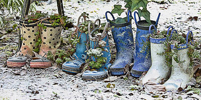 Photograph - Snowy Cold Rubber Boots by Ron Roberts