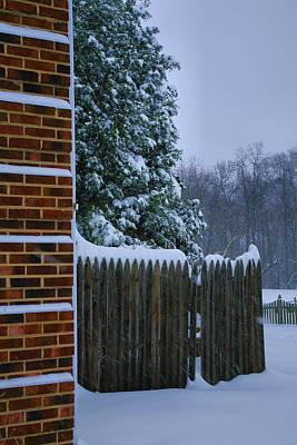 Snowy Corner Print by Steven Ainsworth