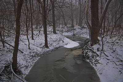 Photograph - Snowy Creek by Brandon  Ivey
