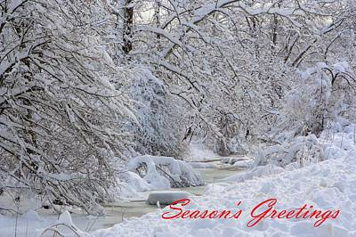 Photograph - Snowy Creek In Pennsylvania by Gordon Elwell