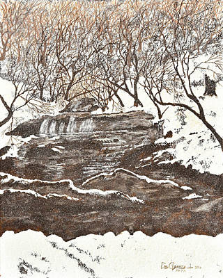 Painting - Snowy Creek by Leo Gehrtz