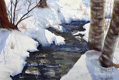 Painting - Snowy Creek by Marisa Gabetta