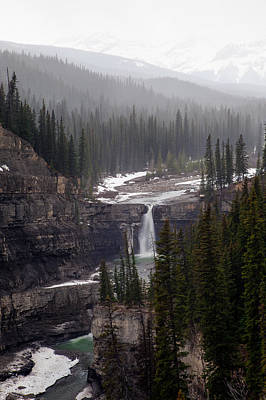 Photograph - Snowy Crescent Falls by David Buhler