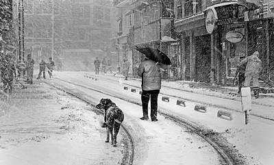 Snowfall Photograph - Snowy Day A?n A?stanbul by Devrim ?nl?