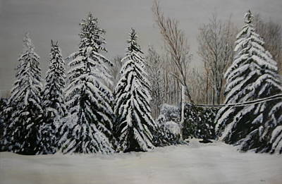 Painting - Snowy Day by Betty-Anne McDonald