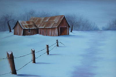 Painting - Snowy Day by Christine McMillan