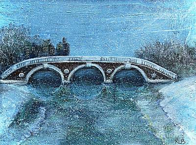Cambridge University Painting - Snowy Day In Cambridge Ma by Rita Brown