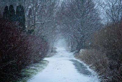 Snowy Day In Newport Print by Allan Millora