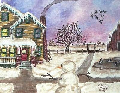 Painting - Snowy Day by The GYPSY