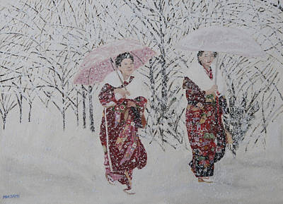 Painting - Snowy Day by Masami Iida