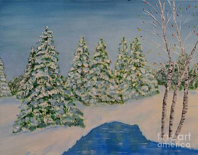 Painting - Snowy Day by Melvin Turner