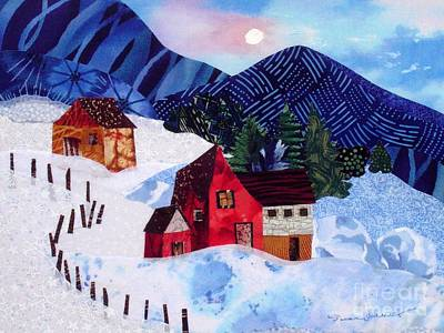 Wintry Mixed Media - Snowy Day by Susan Minier