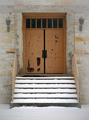 Photograph - Snowy Doors by Joseph Skompski