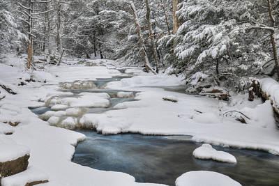 Snowy Digital Art - Snowy Falls Trail by Lori Deiter