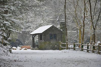 Snowy Digital Art - Snowy Forbidden Drive by Bill Cannon