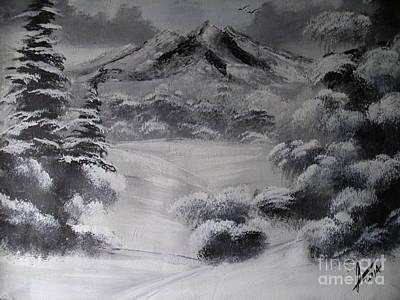 Snowy Forest Original by Collin A Clarke