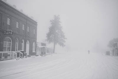 Photograph - Snowy Ghost Town by Darren  White