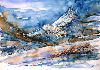 Painting - Snowy Guard by Zaira Dzhaubaeva