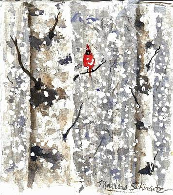 Painting - Snowy Hello by Marlene  Schwartz