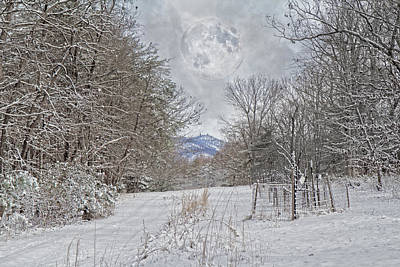 Snowstorm Photograph - Snowy High Peak Mountain by Betsy Knapp