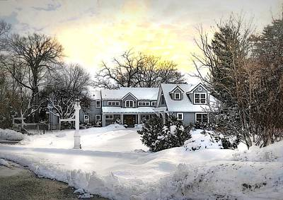 Photograph - Snowy Home by Diana Angstadt