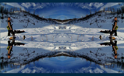 Photograph - Snowy Kaleidoscope by Philip Rispin