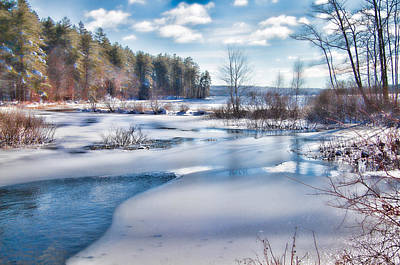 Photograph - Snowy Lake In Nh by Natalie Rotman Cote
