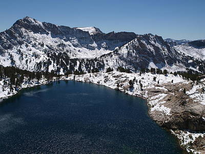 Photograph - Snowy Liberty Lake by Jenessa Rahn