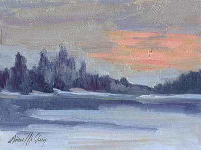 Painting - Snowy Morning At Martha Lake by Diane McClary
