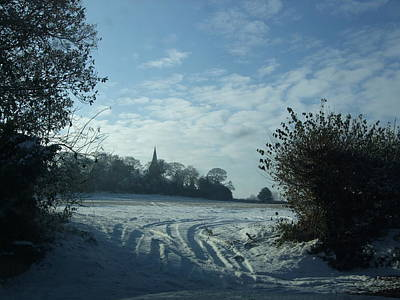 Snowy Morning Art Print