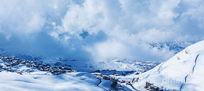 Christmas Holiday Scenery Photograph - Snowy Mountains by Anna Om