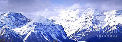 Mountain Royalty-Free and Rights-Managed Images - Snowy mountains by Elena Elisseeva