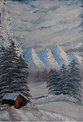Painting - Snowy Mountains by Peter Kallai