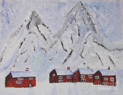Painting - Snowy Mountains by Tracey Williams