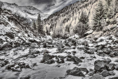 Photograph - Snowy Mountainscape by Roberto Pagani