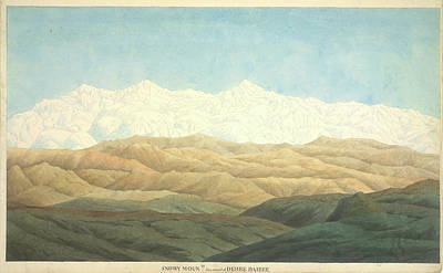 Illustration Technique Photograph - Snowy Mounts by British Library