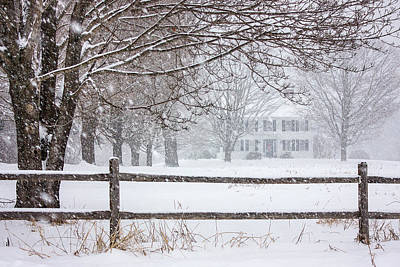 Snowy New England Art Print by Benjamin Williamson