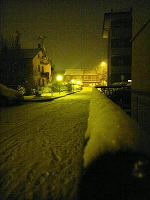 Photograph - Snowy Night by Giuseppe Epifani