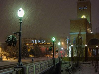 Streetlight Photograph - Snowy Night by Marc Crumpler