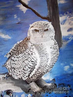 Snowy Owl . Art Print
