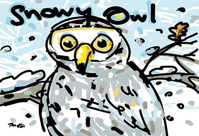 Snowy Owl Art Print by Brett LaGue